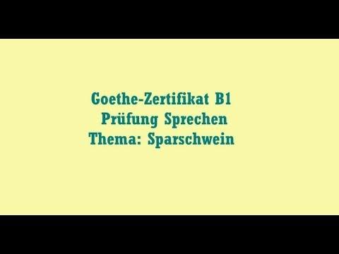 Deutsch Themen Goethe Zertifikat B1 Prüfung Sprechen Thema