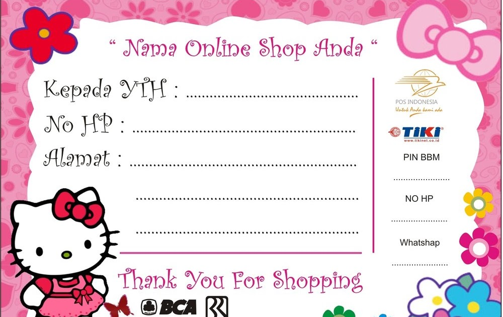 29 Pdf Template Stiker Olshop Printable And Download Zip