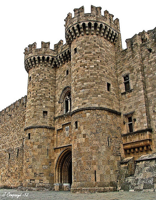 Medieval City of Rhodes, Greece: Entrance gate to the Grand Master's Palace (of the Order of the Knights of Rhodes / Order of Hospitallers) #castle