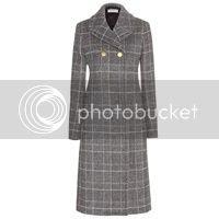 BALENCIAGA Mantel aus Wolle und Alpakawolle
