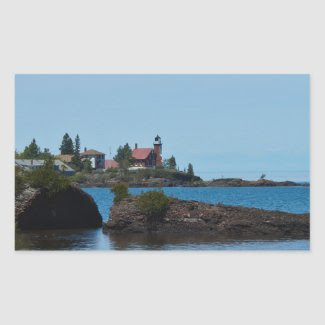Eagle Harbor Lighthouse Rectangular Sticker