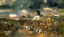 """<a href=""""http://reference.findtarget.com/search/Clément-Auguste Andrieux/"""" class=""""wiki"""">Clément-Auguste Andrieux</a>'s 1852 <i>The Battle of Waterloo</i>"""