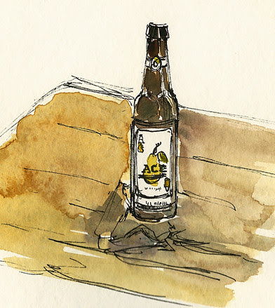 Ace pear cider, Harbor Point beer garden, Stamford, CT