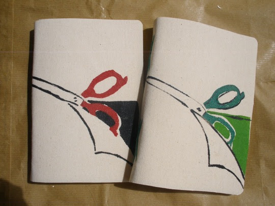 gunting merah & hijau