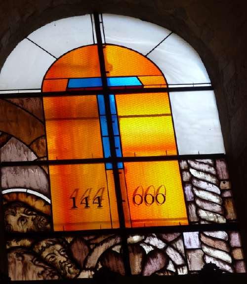 Vitrail 144 000 —666 -  Cathédrale St Cyr