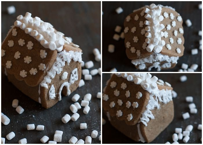mini gingerbread houses (made with ONE cookie cutter)