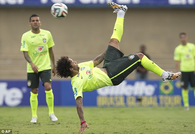 High flyer: Marcelo has competition at left back is expected to claim a starting spot