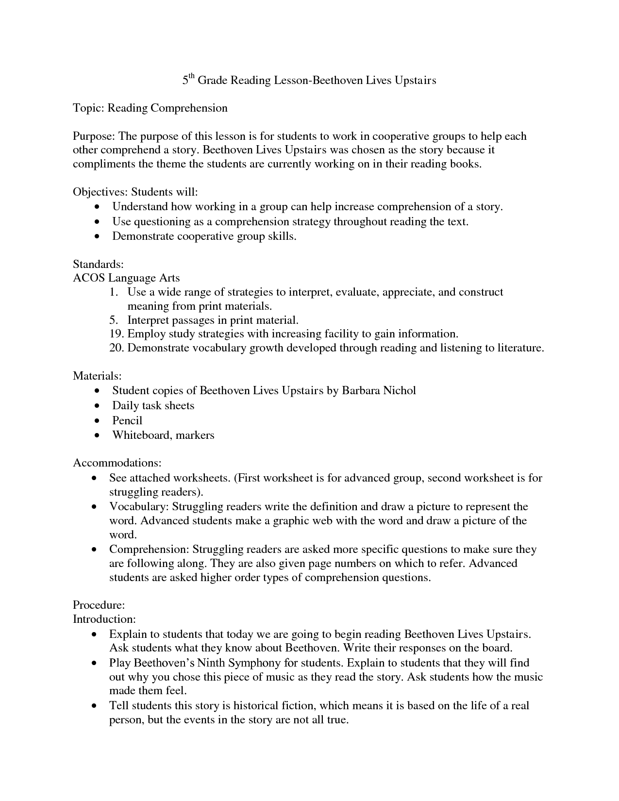 10 Best Of Reading Prehension Worksheets With