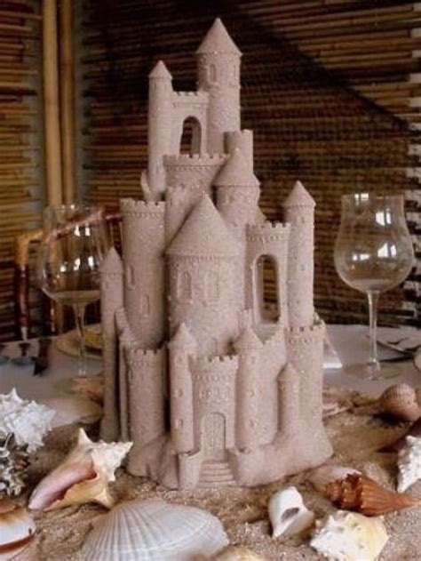 Wedding Theme   Sand Castle Centerpiece #2058633   Weddbook