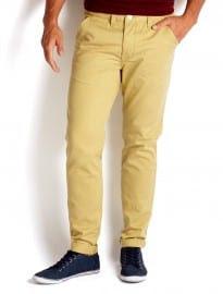 Burton Skinny Fit Yellow Chinos