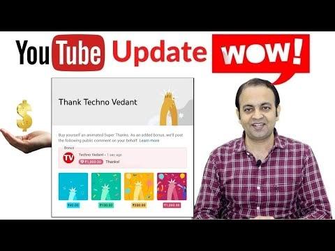 Super Thanks New YOUTUBE UPDATE Earn More Money (2021) | Techno Vedant