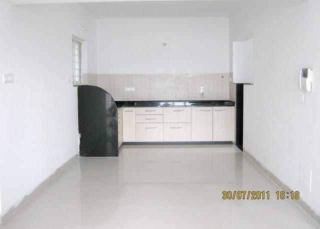 "Kitchen in Ready Possession 2 BHK Flat No. I 803 in Pethkar Projects' ""Balwantpuram Samrajya"", at Shivtirthnagar, Paud Road, Kothrud - Pune 411 038"