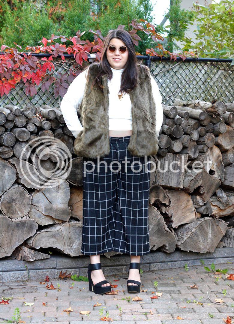 plus size faux fur plus size fashion plus size grid culotte fashion to figure penningtons canadian plus size fashion