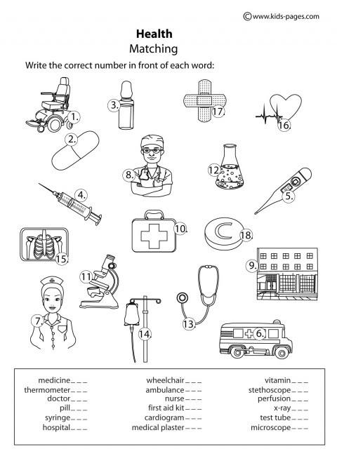 17 Best Images of Wellness Worksheets PDF - Kids' Health ...
