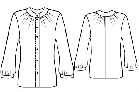 blouse  gathering sewing pattern