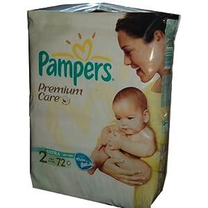 NEU 72 PAMPERS PREMIUM CARE (Premium Pflege) BABY WINDELN Gr. 2, 3-6 KG MINI - DIE BESONDERE WINDEL FÜR DIE BESONDERE PFLEGE