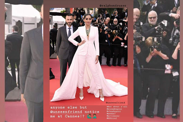 9a42cd6714 Anand Ahuja shares his edited photo with wife Sonam Kapoor at the red  carpet of Cannes 2019