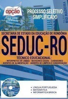 Apostila Seduc RO (Processo seletivo) Técnico Educacional