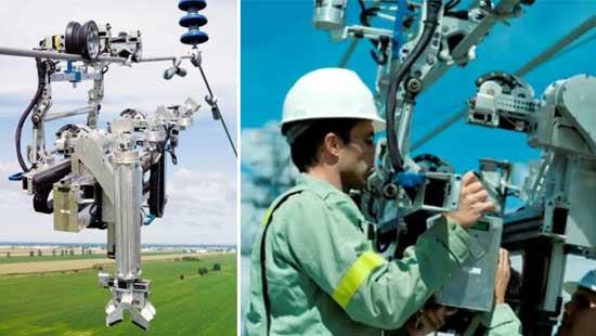 Robot que monitoriza lineas eléctricas de alta tensión