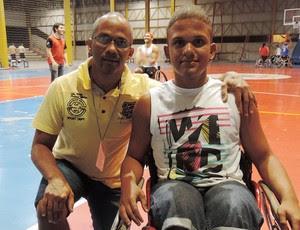 Marcos Vinícius Lima Brito, basquete sobre rodas, Prudente, Adapp (Foto: Ronaldo Nascimento / GloboEsporte.com)