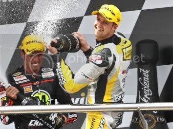 Thomas Lüthi, finish pada posisi ketiga di Jerez