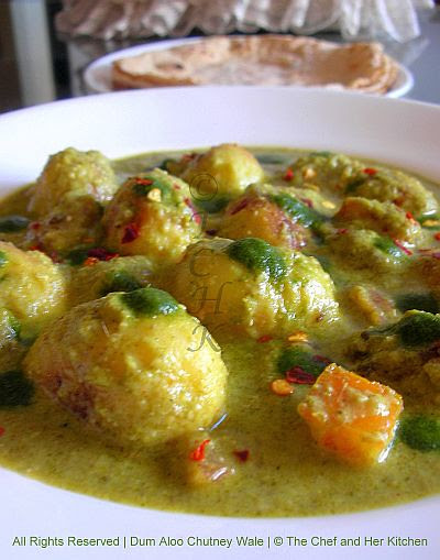 THE CHEF and HER KITCHEN: Dum Aloo Chutney Wale