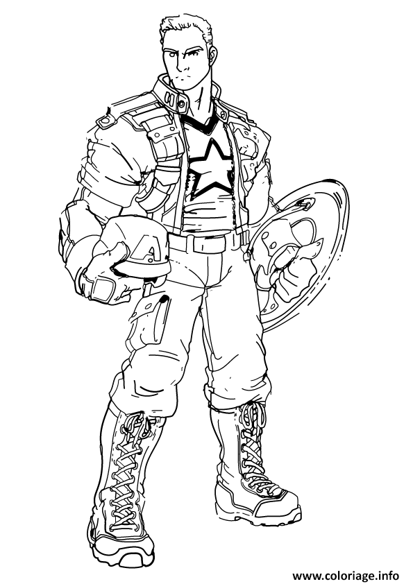 Coloriage Colorier Captain America 69 Jecoloriecom