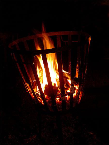 flames in a brazier