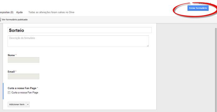 google drive enviar formulario