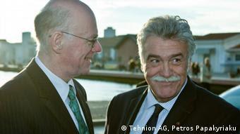 Ο πρόεδρος της Ισραηλιτικής Κοινότητας Θεσσαλονίκης Δαυίδ Σαλτιέλ με τον πρόεδρο του γερμανικού κοινοβουλίου Νόρμπερτ Λάμερτ