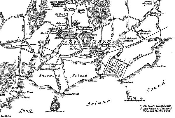 Circa 1648 Map of Sherwood Island