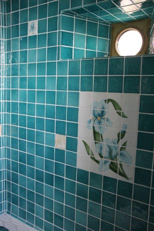Carrelage Salle De Bain Bleu Turquoise