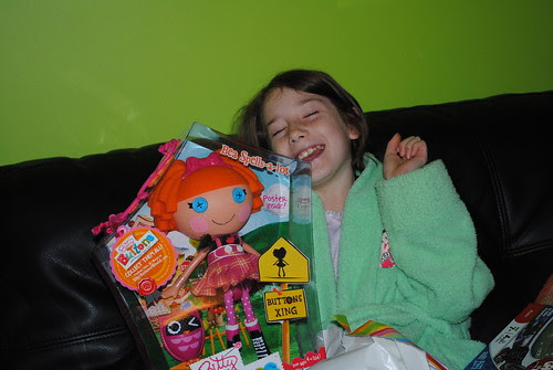 I think she liked her present!!