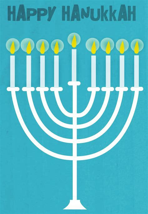 Happy Hanukkah Menorah   Hanukkah Card (Free)   Greetings