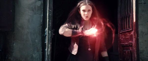 Scarlet Witch unleashes her power in 2015's AVENGERS: AGE OF ULTRON.