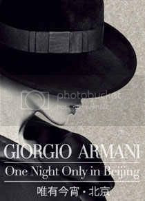 Giorgio Armani One Night Only in Beijing Fashion Show