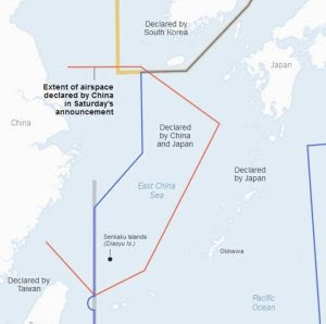 Overlapping ADIZes in the East China Sea.
