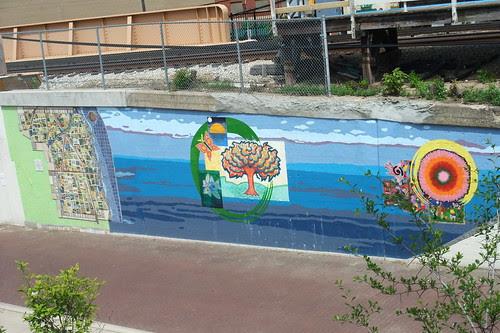 Evanston Mural by Metra