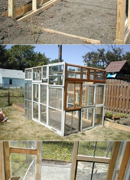 how to build a greenhouse with old windows and doors