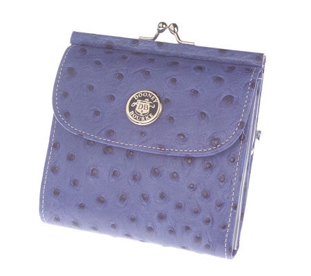 Dooney & Bourke OstrichEmbossed Leather Credit Card Wallet ...