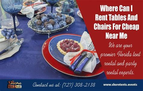 Rent Tables And Chairs For Cheap Near Clearwater & Tampa
