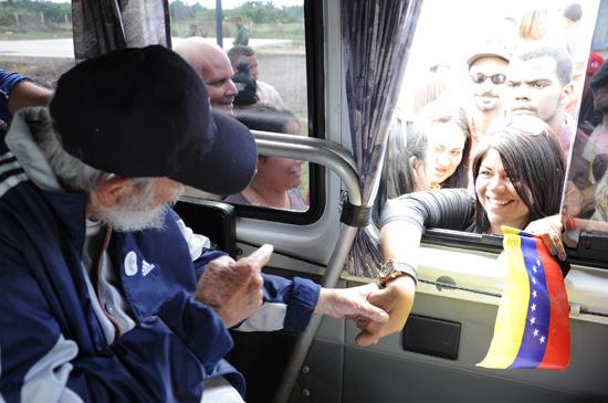 Encuentro de un grupo de venezolanos con el líder histórico de la Revolución.