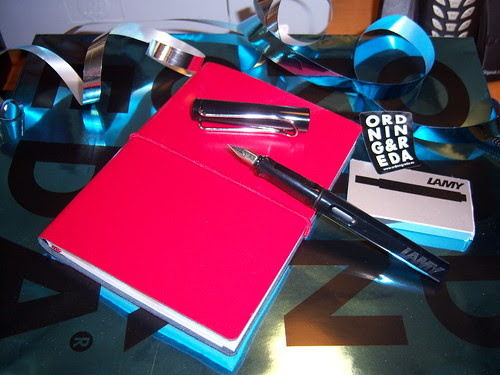 My new sketchbook and my new pen