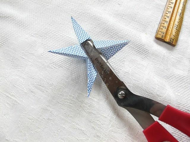 using scissors