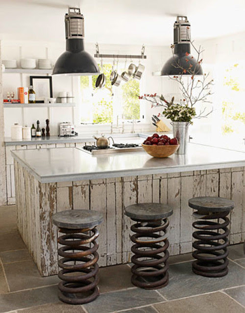 Salvaged Material Kitchen eclectic kitchen