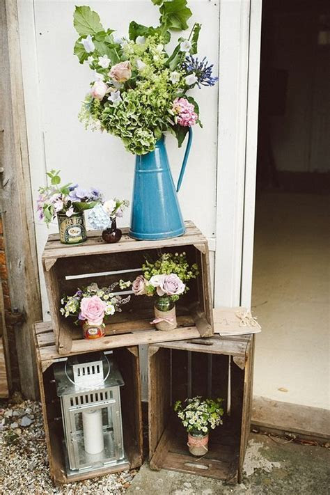Darling Wooden Crates Wedding Decoration Ideas Within