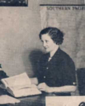 Aunt Lora Hawkins at SPRR office