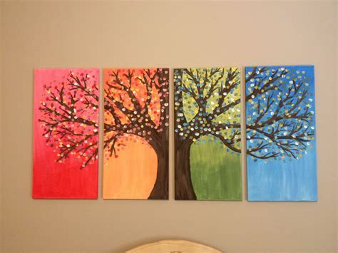 diy canvas painting  tree canvas painting diy easy