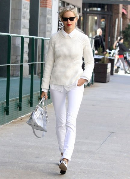 Czech model Karolina Kurkova goes for a walk out in New York City, New York on April 16, 2014.