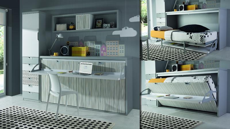 Dormitorio muebles modernos muebles con cama abatible horizontal - Literas abatibles conforama ...